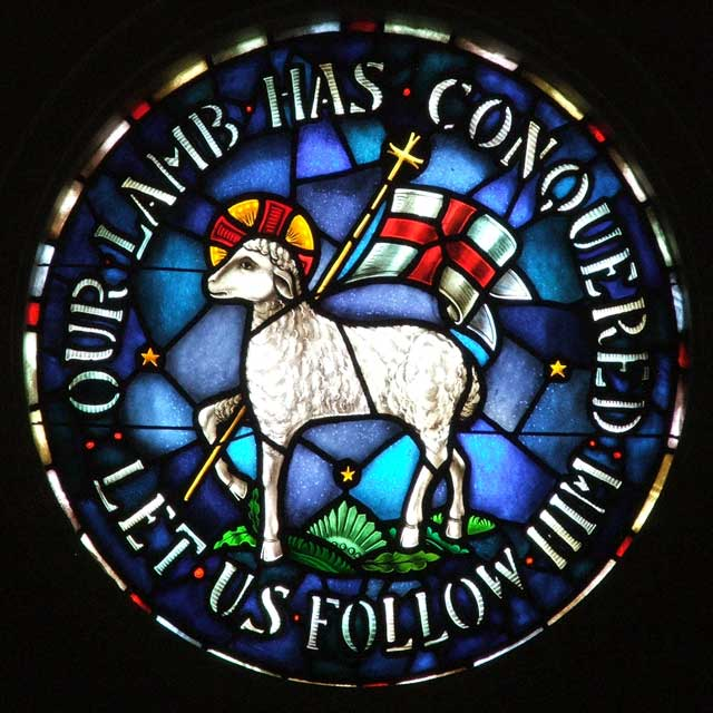 Agnus Dei with the Flag of Victory – Let Go of Self and Obey God